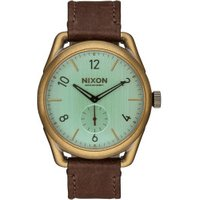 Nixon C39 Leather brass/green crystal/brown (A459 2223)