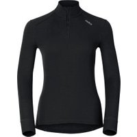 Odlo Shirt l/s Turtle Neck 1/2 Zip Warm Women (152001) black