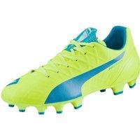 Puma evoSPEED 4.4 FG  safety yellow/atomic blue/white