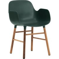 Normann Copenhagen Form Armchair green/walnut