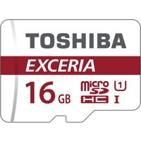 Toshiba 16 GB Micro SDHC EXCERIA M302 Card U3 Class 10 with Adapter