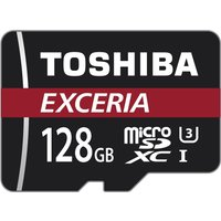 Toshiba 128 GB EXCERIA M302 Micro SDXC Card U3 Class 10 with Adapter (THN-M302R1280EA)