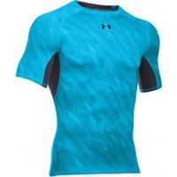 Under Armour Men's HeatGear Compression Short Sleeve Printed meridian blue