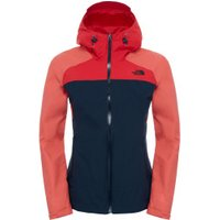 The North Face Women's Stratos jacket Urban Navy/ Spiced Coral/ High Risk Red