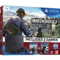 Sony PlayStation 4 (PS4) Slim 1TB + Watch Dogs 2 + Watch Dogs