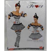 Smiffy's Fever Clown Mime Diva Costume S (33295)