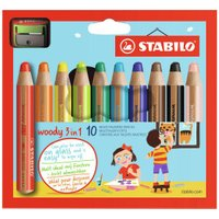 Stabilo woody 3 in 1 (10 colours)