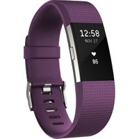Fitbit Charge 2 Plum Silver L
