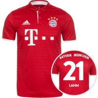 Adidas FC Bayern München Home Jersey 2016/2017 + Lahm Nr. 21