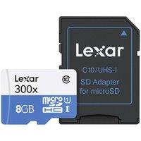 Lexar High-Performance 300x microSDHC 8GB UHS-I (LSDMI8GBBBEU300A)