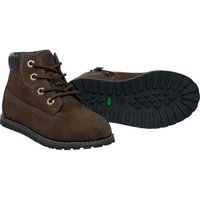 Timberland Pokey Pine Hook-and-Loop Boot 6-Inch Side Zip brown