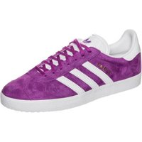 Adidas Gazelle shock purple/white/gold metallic