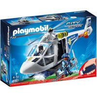 Playmobil City Action - Police Helicopter with LED Searchlight (6921)