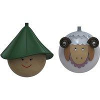 Alessi Weihnachtsbaumkugeln-Set Hirte und Schaf