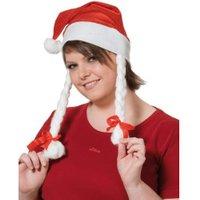 Rubie's Christmas Hat with Braids (422124)