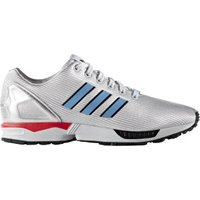 Adidas ZX Flux silver metallic/light blue/bright red