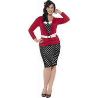 Smiffy's Curves 50's Pin Up Costume L (24455)