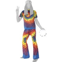 Smiffy's 1960'S Tie Dye Top and Flared Trousers M (35431)