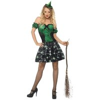 Smiffy's Fever Wicked Witch Light Up Costume (24154)
