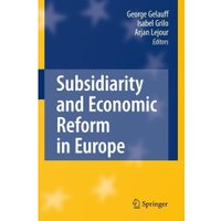 Subsidiarity and Economic Reform in Europe [Hardcover]