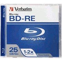Verbatim BD-RE 25GB 135min 2x 1pk Jewel Case