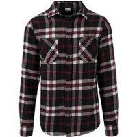 Urban Classics Regular Fit Checked Flanell black/white/red (TB1422-711)