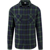 Urban Classics Regular Fit Checked Flanell forest/navy/black (TB1422-802)