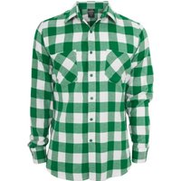 Urban Classics Regular Fit Checked Flanell white/green (TB297-229)