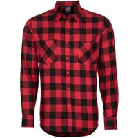 Urban Classics Regular Fit Checked Flanell (TB297BLKRED) black/red