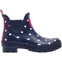 Joules Welli Bob Short Welly navy spot