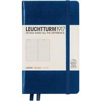Leuchtturm1917 Pocket Notebook (A6) Hardcover Ruled Navy
