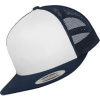 Flexfit 6006W Classic Trucker with White Front Panel navy/white/navy
