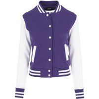 Urban Classics Ladies 2-Tone College Sweatjacket (TB218) purple/white