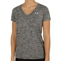 Under Armour Women T-Shirt V-Neck UA Twist Tech black