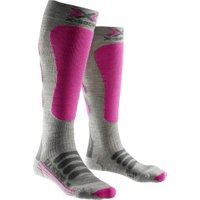X-Socks Ski Silk-Merino Socks Lady grey/fuchsia