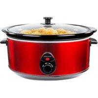 Andrew James 6.5 Litre Premium Slow Cooker red