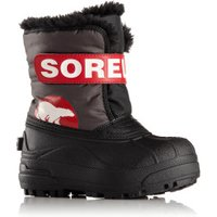 Sorel Snow Commander Youth Kids dark grey/bright red