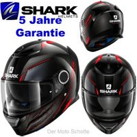 SHARK Spartan Carbon Silicium grey/red