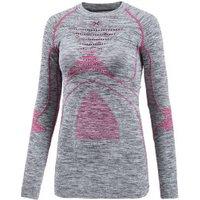 X-Bionic Lady Acc Evo Melange Uw Shirt Long Sleeve Round Neck light grey melange/raspberry