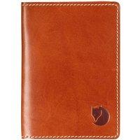 Fjällräven Leather Passport Cover cognac