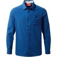 Craghoppers NosiLife Tatton LS Shirt deep blue
