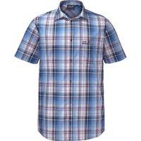 Jack Wolfskin Hot Chili Shirt Men night blue checks