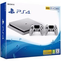Sony PlayStation 4 (PS4) Slim 500GB silver + 2 Controller