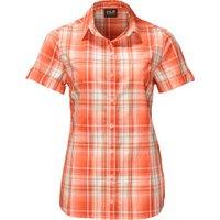 Jack Wolfskin Maroni River Shirt Women papaya checks
