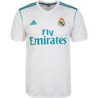 Adidas Mens Real Madrid Home Replica Jersey - WhiteVivid Teal, 2X-Large