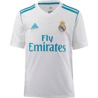 adidas Boys Real Madrid Home Short Sleeve Jersey, boys, Real Madrid Domicile, WhiteVivid Teal, FR : S Taille Fabricant : 128