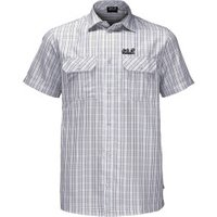 Jack Wolfskin Thompson Shirt Men  white rush checks