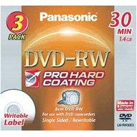 Panasonic DVD-RW Mini 1,4GB 30min 3pk Jewel Case