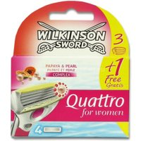 Wilkinson Quattro for Women Razor Blades Papaya & Pearl (4 pcs.)