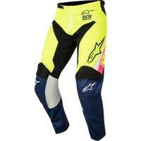 Alpinestars Racer Supermatic 2018 Pants dark blue/yellow